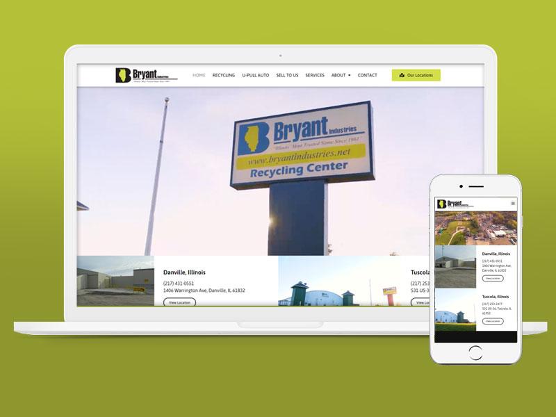 Bryant Industries Website Design