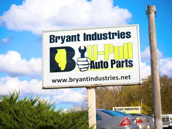 Bryant Industries U-Pull Auto Parts Sign